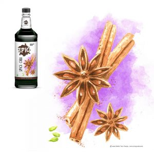 Ilustración. Packaging Epic Speciality Syrup. llustration. Packaging Epic Specialty Syrup