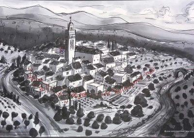 Ilustración Mézquita mudejar de Árchez Museo MVVEL, Illustration Mudejar Mosque of Árchez Museum MVVEL