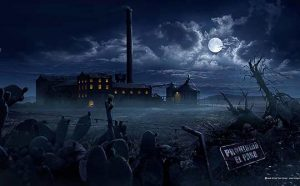 La vieja fábrica - matte painting, The old factory - matte painting