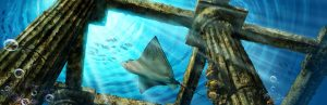 Concept Art - Ruinas en las profundidades - Illustration Concept Art. Ruins in the deep