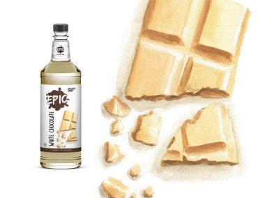 Ilustración Packaging Epic Speciality Syrup, llustration Packaging Epic Specialty Syrup