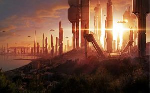 Ilustración Concept Art. City of the future, Illustration Concept Art. City of the future