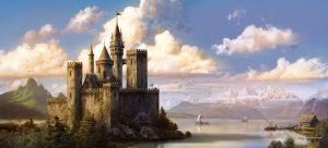 El Castillo del lago - Matte painting, The Castle on the lake - Matte painting