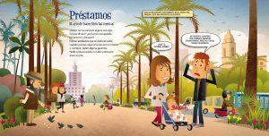 Ilustración Cómic educación financiera.Illustration Financial education comic