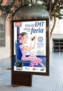 Ilustración. Con la EMT directo a la feria. Illustration. With the EMT direct to the fair.