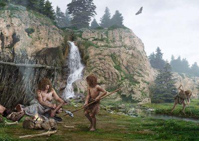 01-MATTE-PAINTING-010-miniatura-matte-painting-neandertales-del-sur-de-la-peninsula-iberica