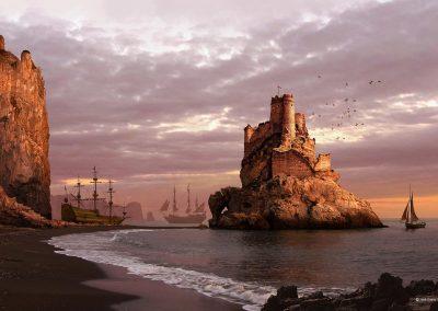 01-matte-painting-el-castillo-de-los-cuervos