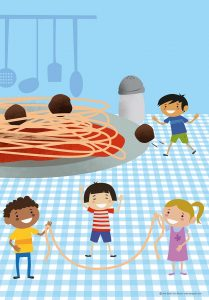 Ilustración. Alimentación saludable. Illustration. Healthy nutrition