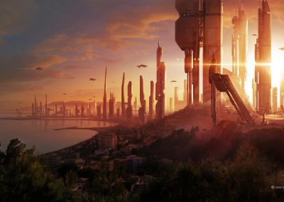 Ilustración Concept Art. City of the future - Illustration Concept Art. City of the future