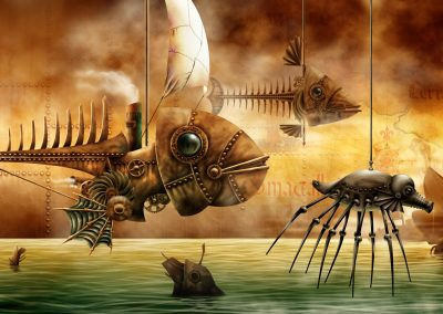 Ilustración Concept Art. Sea machines. Illustration Concept Art. Sea machines.