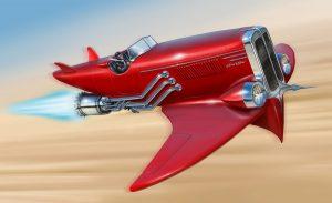 Ilustración Concept Art. Red bird. Illustration Concept Art. Red bird.