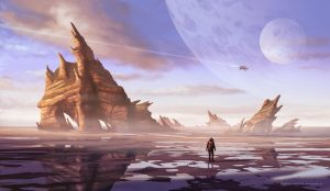 Ilustración Concept Art. Ossum planet. Illustration Concept Art. Ossum planet.