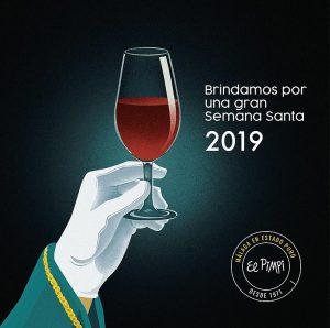 Ilustración. Semana Santa 2019 para El Pimpi. Illustration. Easter 2019 for El Pimpi