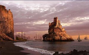 El Castillo de los Cuervos - Matte Painting, The Castle of the Crows - Matte painting