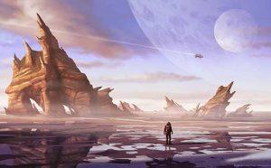 Ilustración Concept Art. Ossum planet. Illustration Concept Art. Ossum planet.