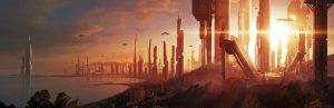 Ilustración Concept Art. City of the future -Illustration Concept Art. City of the future
